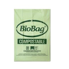 BOLSA BASURA COMPOSTABLE BIOBAG 80X110 (1X10)