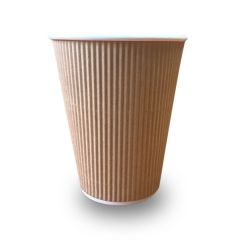 VASO RIPPLE WALL KRAFT 12 OZ (25X20)
